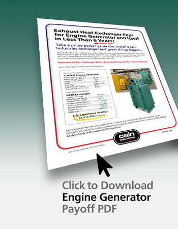 Exhaust Heat Exchanger Pays for Engine Generator