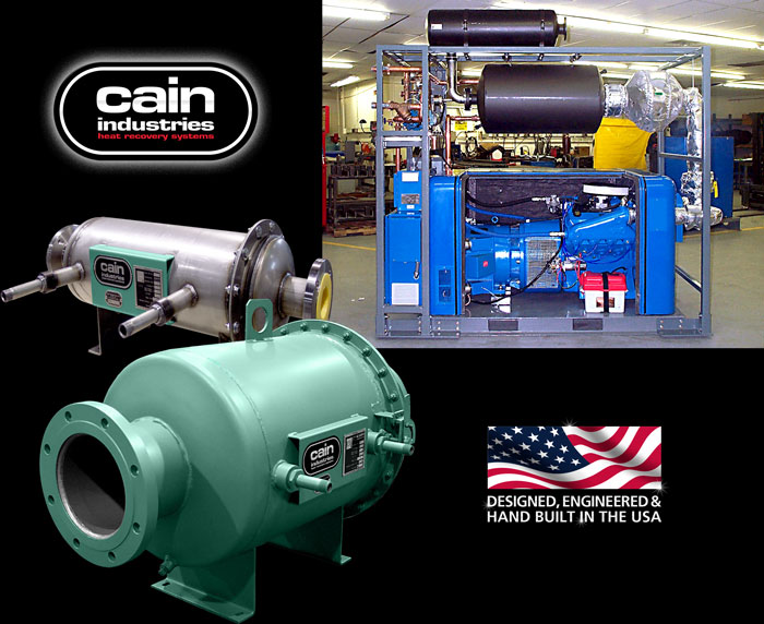 Cain Industries HRSA - Heat Recovery Silencer Axial Cogeneration Series