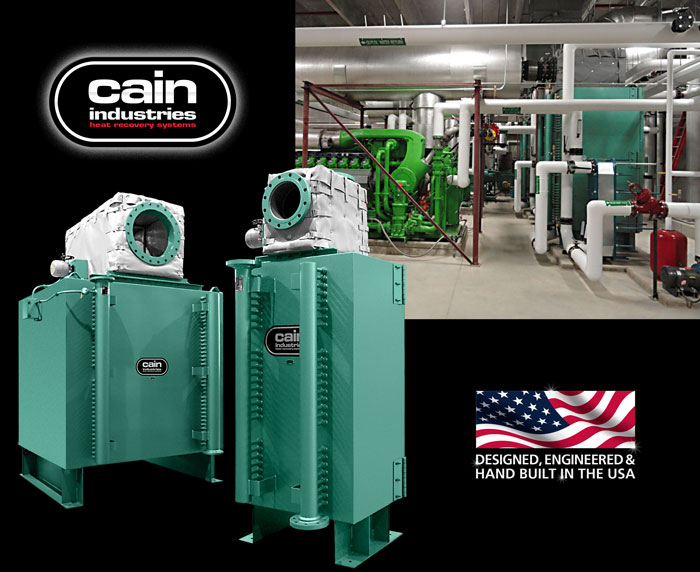 Cain Industries HRSR - Heat Recovery Silencer Radial Cogeneration Series