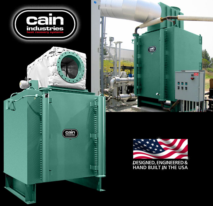 Cain Industries HRSR - Heat Recovery Silencer Radial Fume Incineration Series
