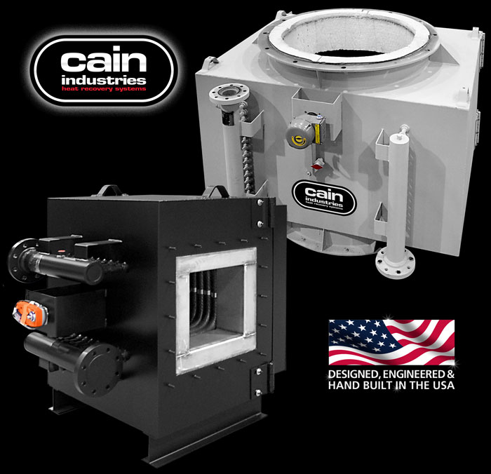 Cain Industries ITR - Incinerator Tube Recovery Fume Incineration Series
