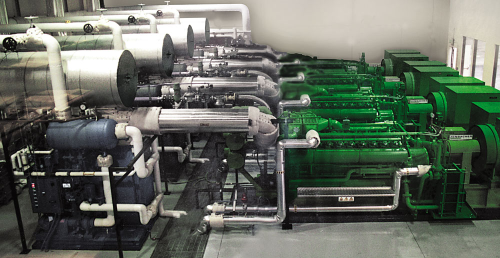 Engine Generator Cogeneration Steam Production