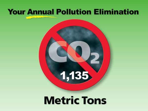 Metric Tons Pollution Elimination